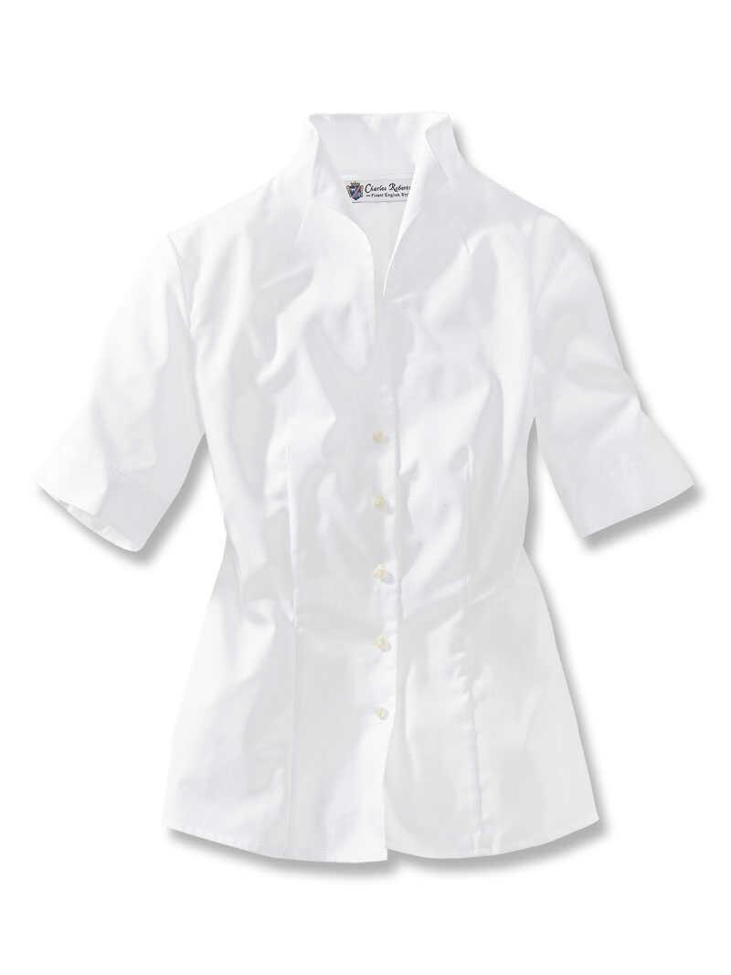 sommer bluse mit kelchkragen bestellen the british shop damenkleidung und mode aus england. Black Bedroom Furniture Sets. Home Design Ideas