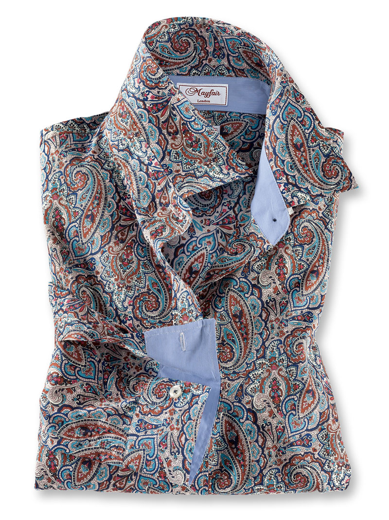 Liberty hemdbluse 39 paisley delight 39 von mayfair bestellen for Mode aus england
