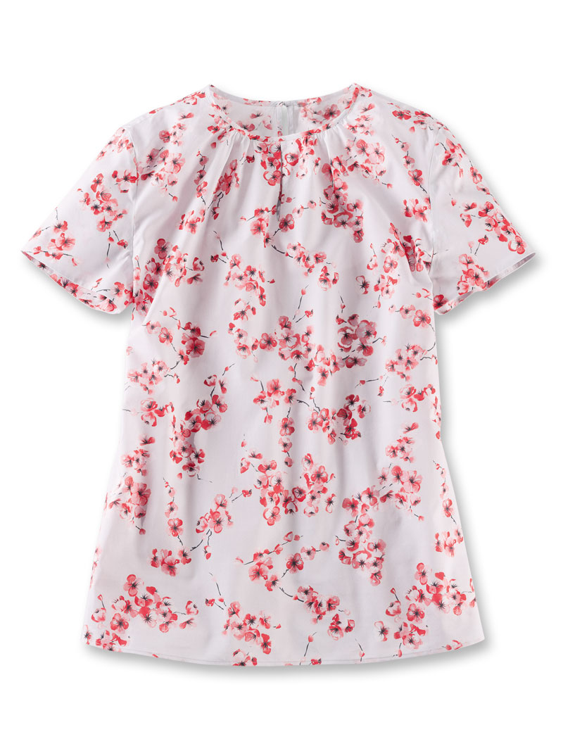 Shirtbluse 'Cherry Blossoms' in Hellgrau Bild 2