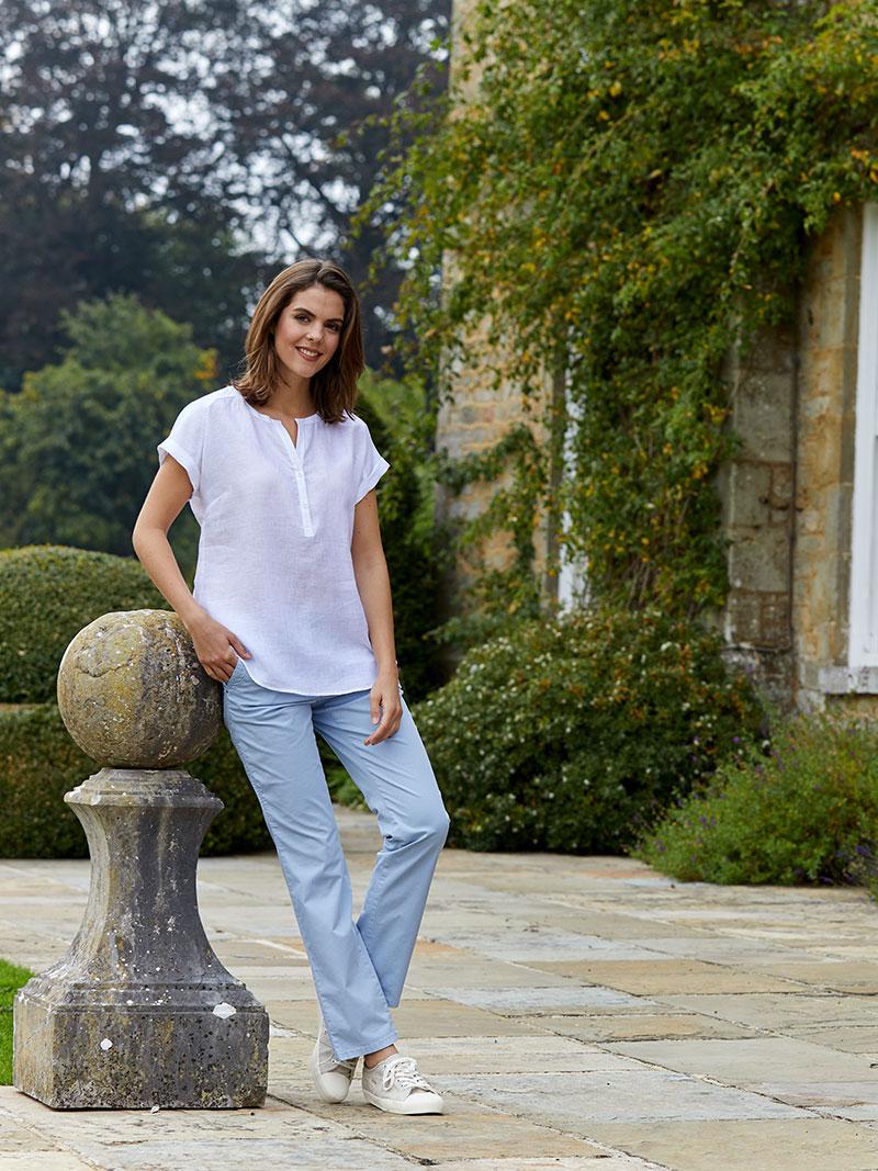 Robertson leinenbluse in wei bestellen the british shop for Mode aus england