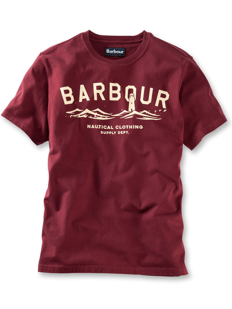 Barbour T-Shirt 'Bressay' in Ruby