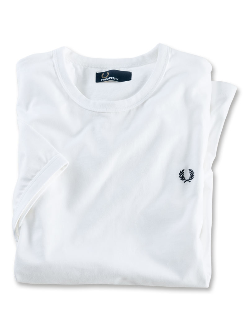 Fred-Perry-T-Shirt in Weiss