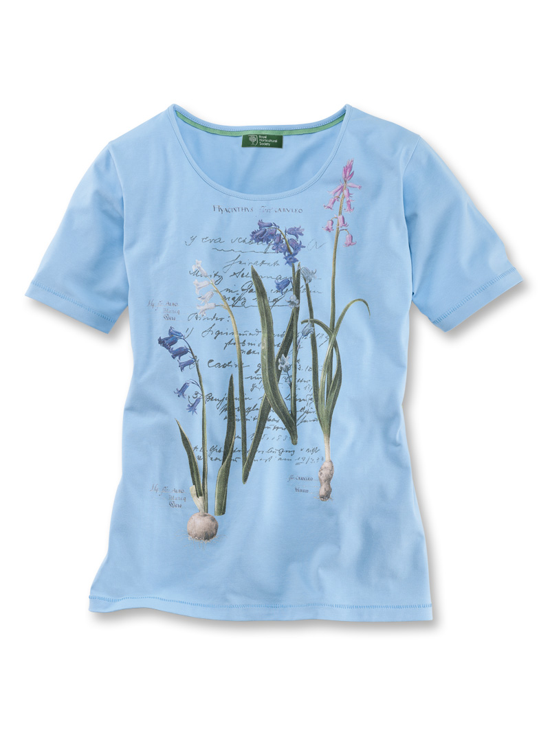 T-Shirt 'Summer Hyacinths' in Azur von Mayfair