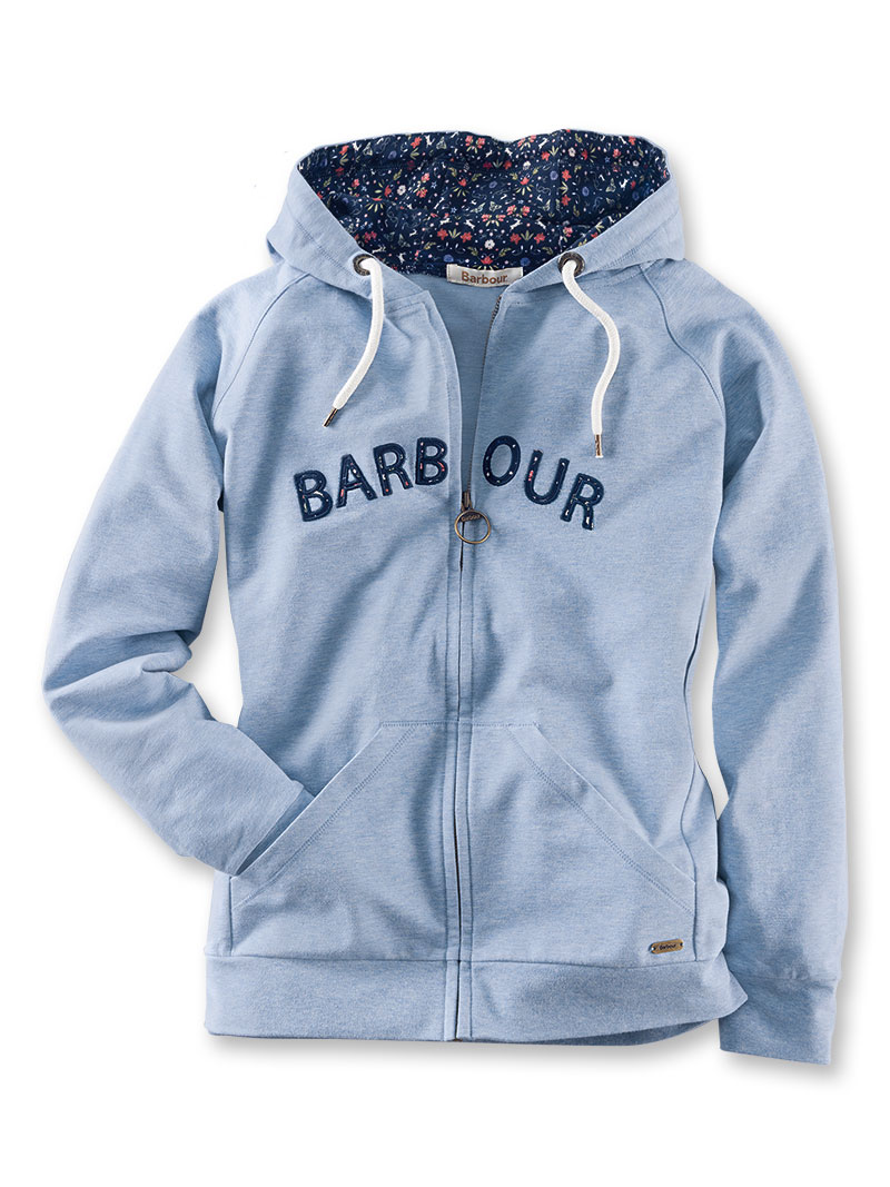 Barbour-Sweatshirtjacke 'Lily' in Sky Marl