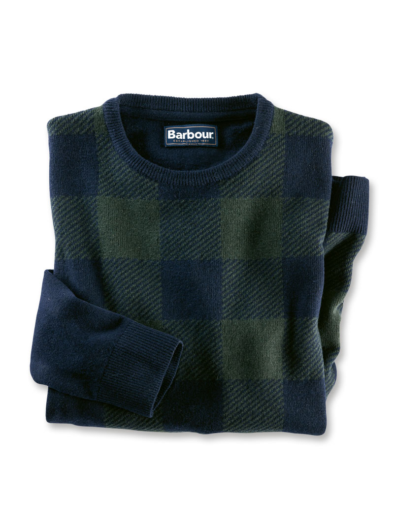 Lambswool-Pullover im 'Black Watch Check' von Barbour Bild 2