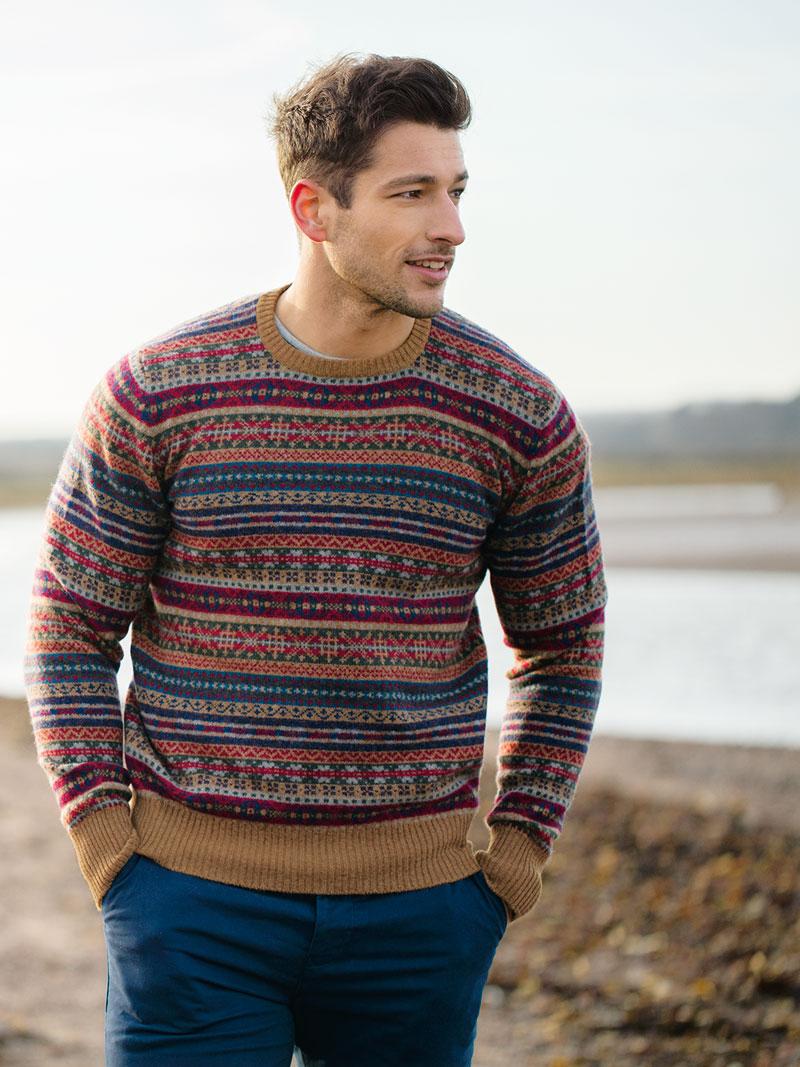Fair isle pullover von william lockie bestellen the british shop herrenmode aus england - Fair isle pullover damen ...