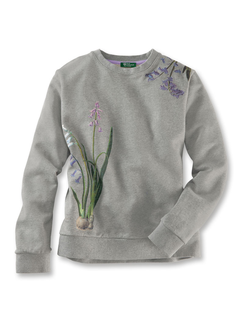 Sweatshirt 'Summer Hyacinths' in Grau von Mayfair