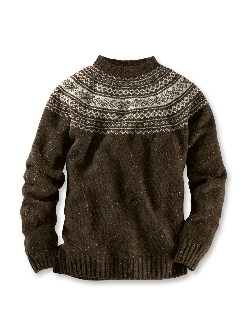 timeless design 5a98a 399fc Harley-Pullover in braunem 'Fair Isle'-Muster