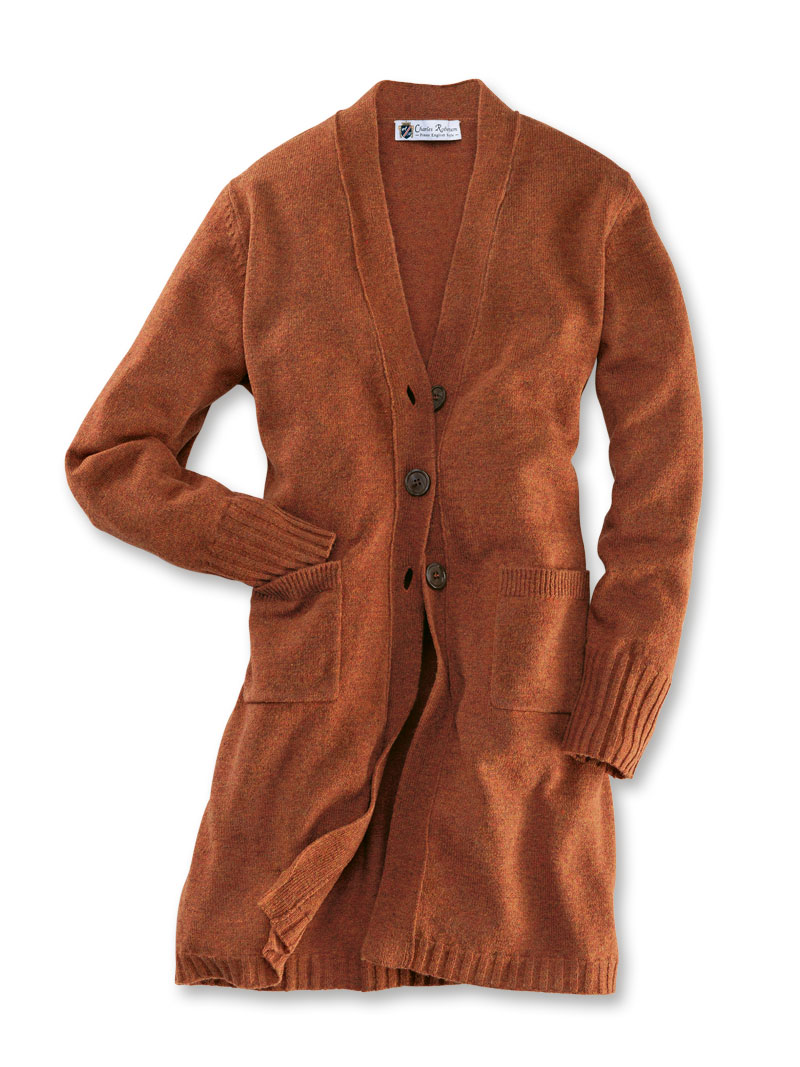 Long Cardigan Orange für Damen