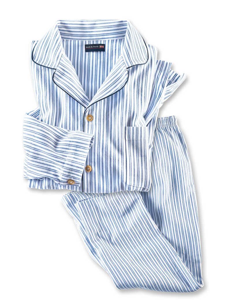flanell pyjama 39 old times 39 f r damen und herren bestellen the british shop herrenmode aus. Black Bedroom Furniture Sets. Home Design Ideas