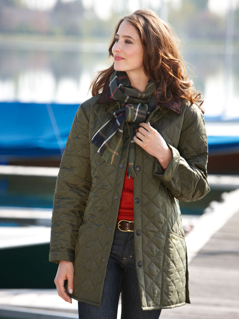 Barbour 'Liddesdale' - Steppjacke in Oliv