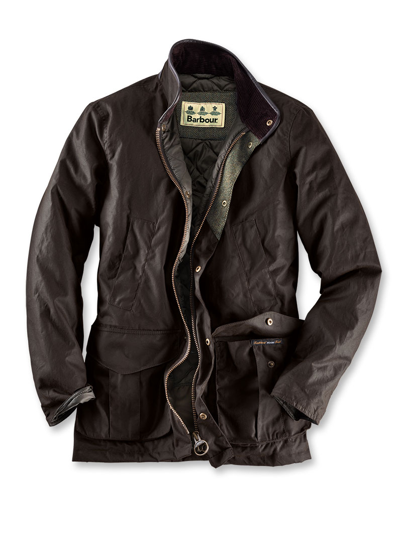 Perfekte Barbour-Wachsjacke in Oliv