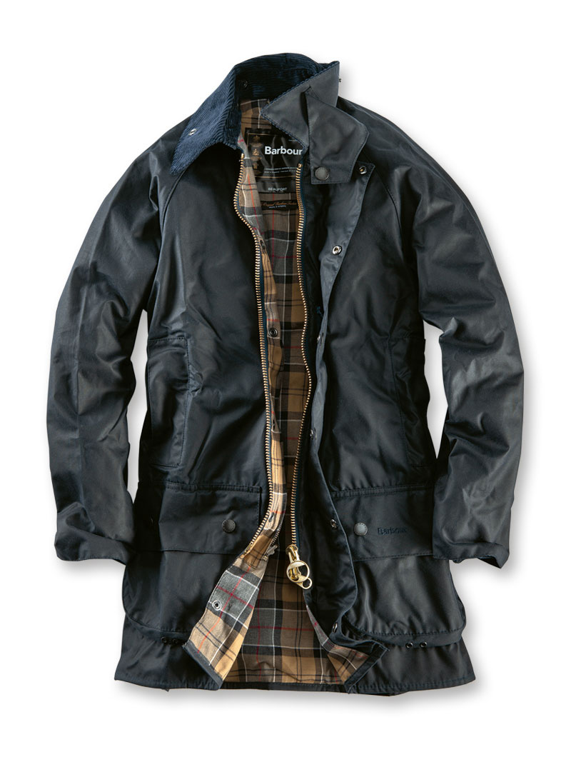 Barbour Wachsjacke Beaufort in Dunkelblau