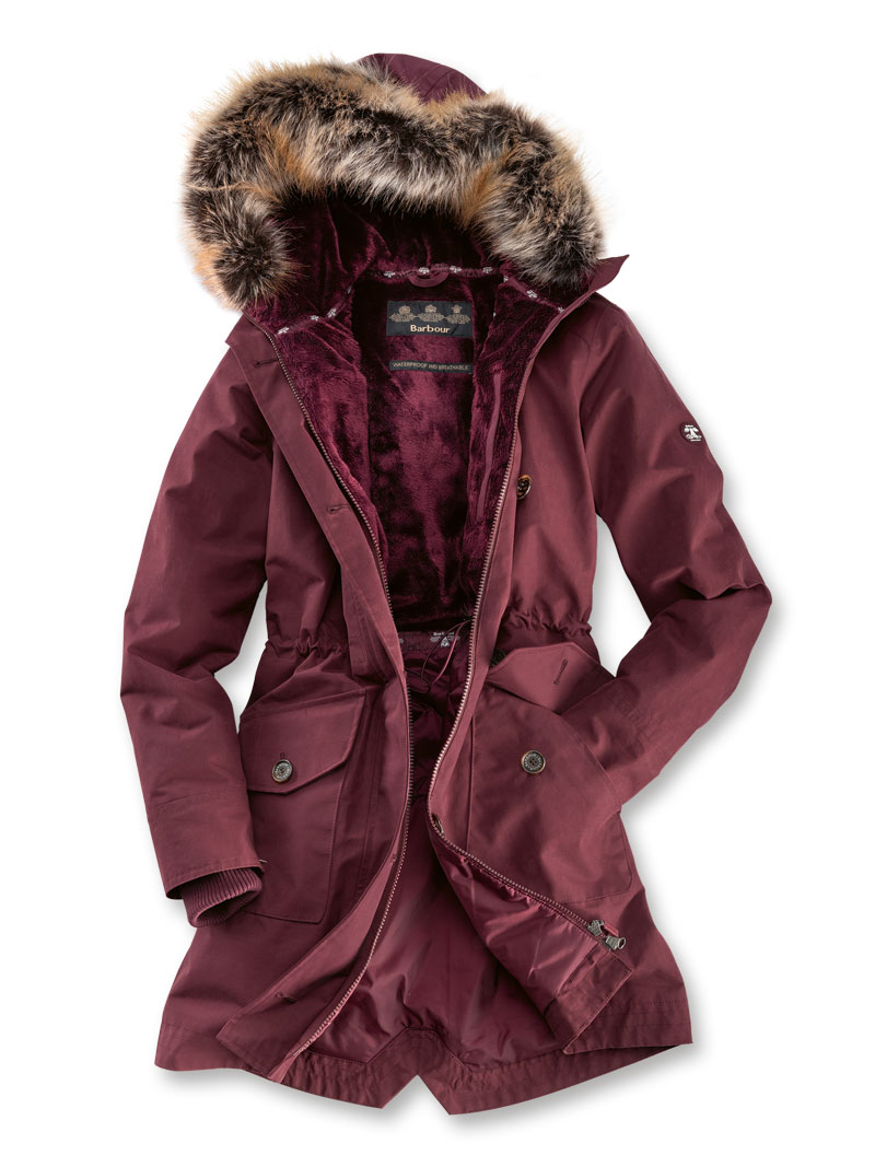 sneakers for cheap 69ab7 95b24 Outdoor-Parka 'Tellin' in Bordeaux von Barbour