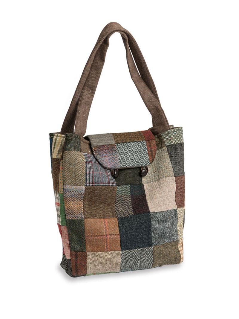 patchwork tasche von hanna hats bestellen the british shop damenkleidung und mode aus. Black Bedroom Furniture Sets. Home Design Ideas