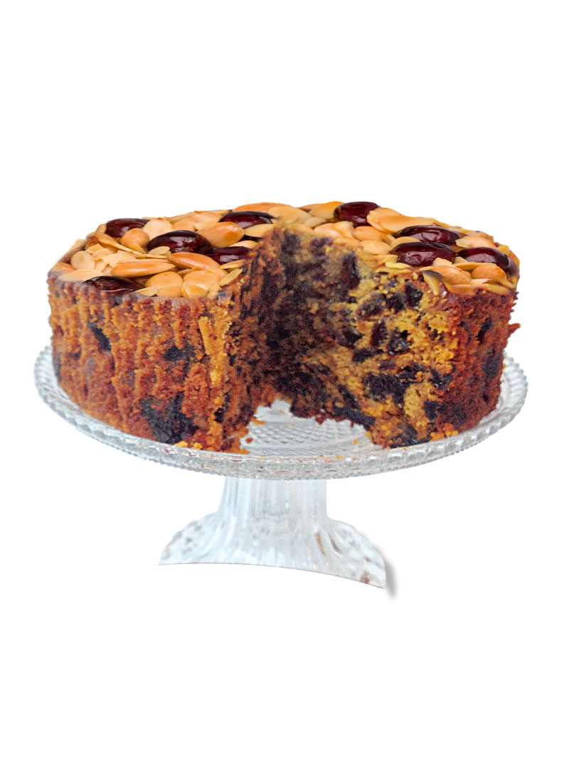 Cherry & Almond Fruit Cake
