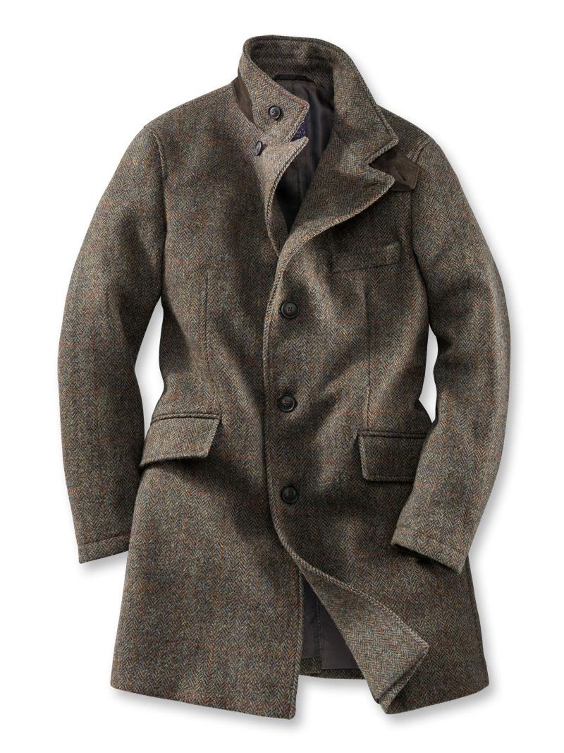 Moderner 'Harris Tweed' Mantel