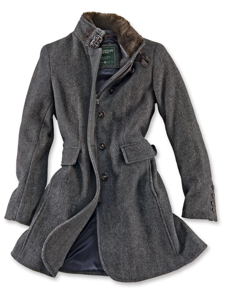 Moderner wollmantel in anthrazit von wellington bestellen for Mode aus england