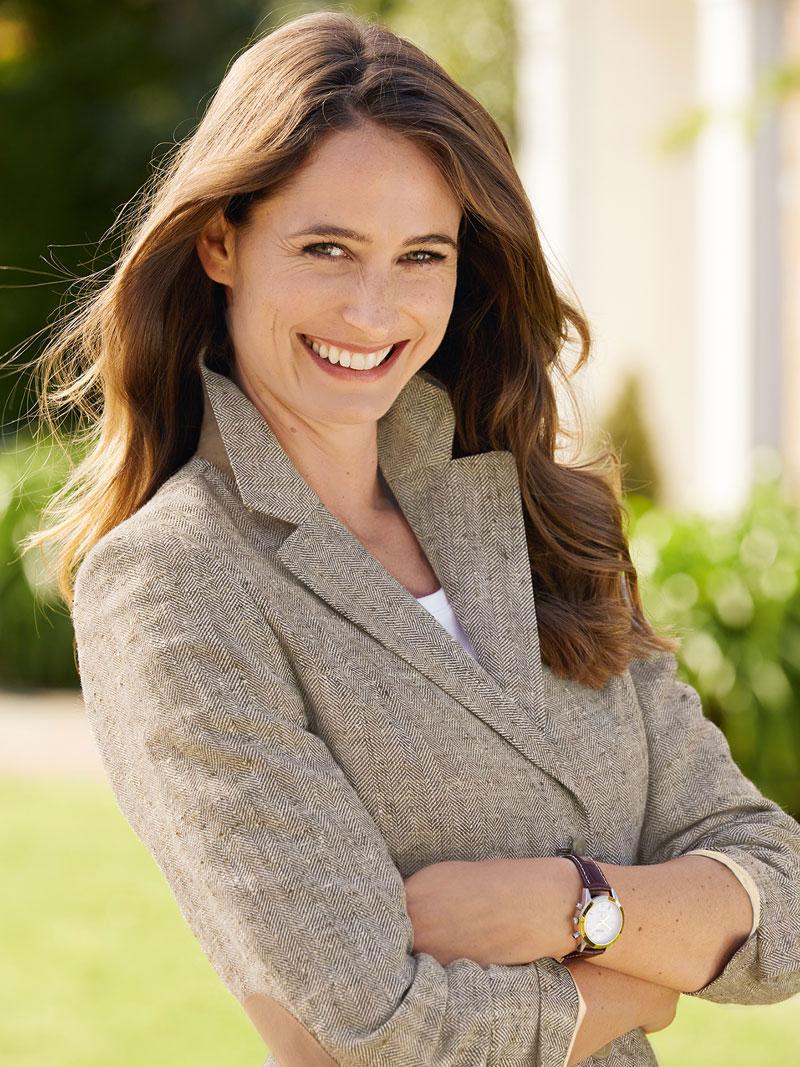 Robertson blazer aus edlem sommertweed natur meliert for Mode aus england