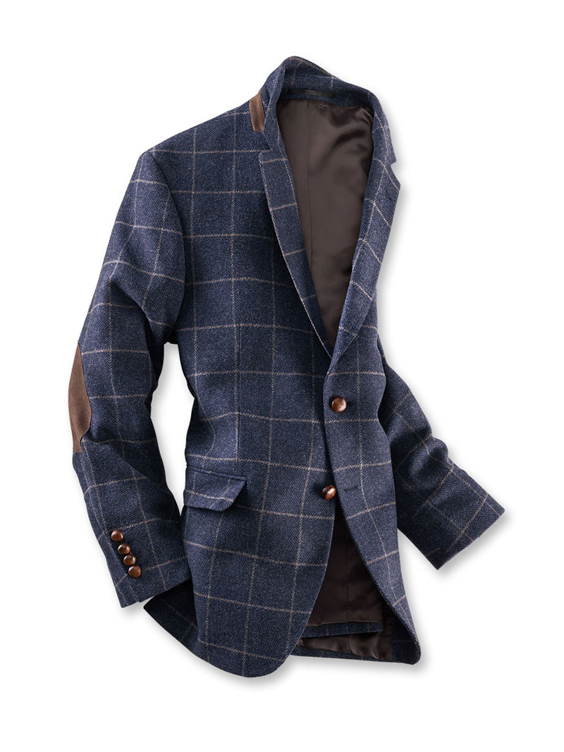 Tweed Sakko in Blau meliert von Charles Robertson