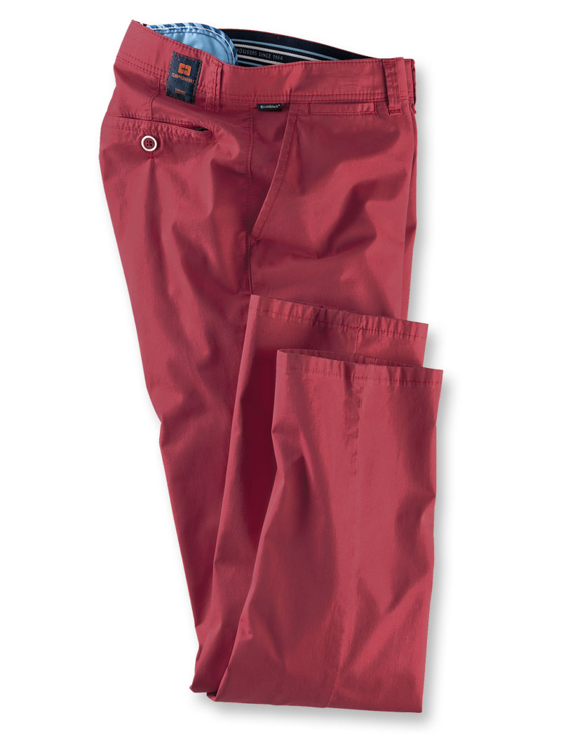 Sommerhose aus 'Pima Cotton' in Rot von Club of Comfort