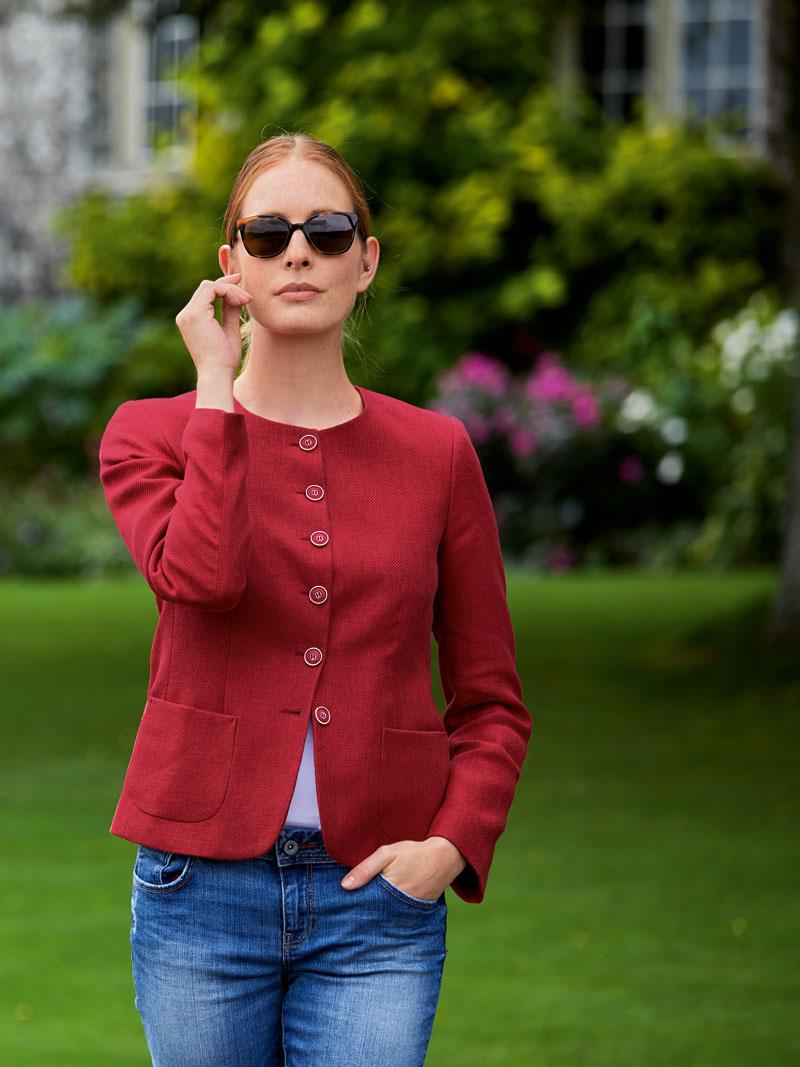 Kinbury blazer 39 ruby red 39 in mohnrot bestellen the for Mode aus england