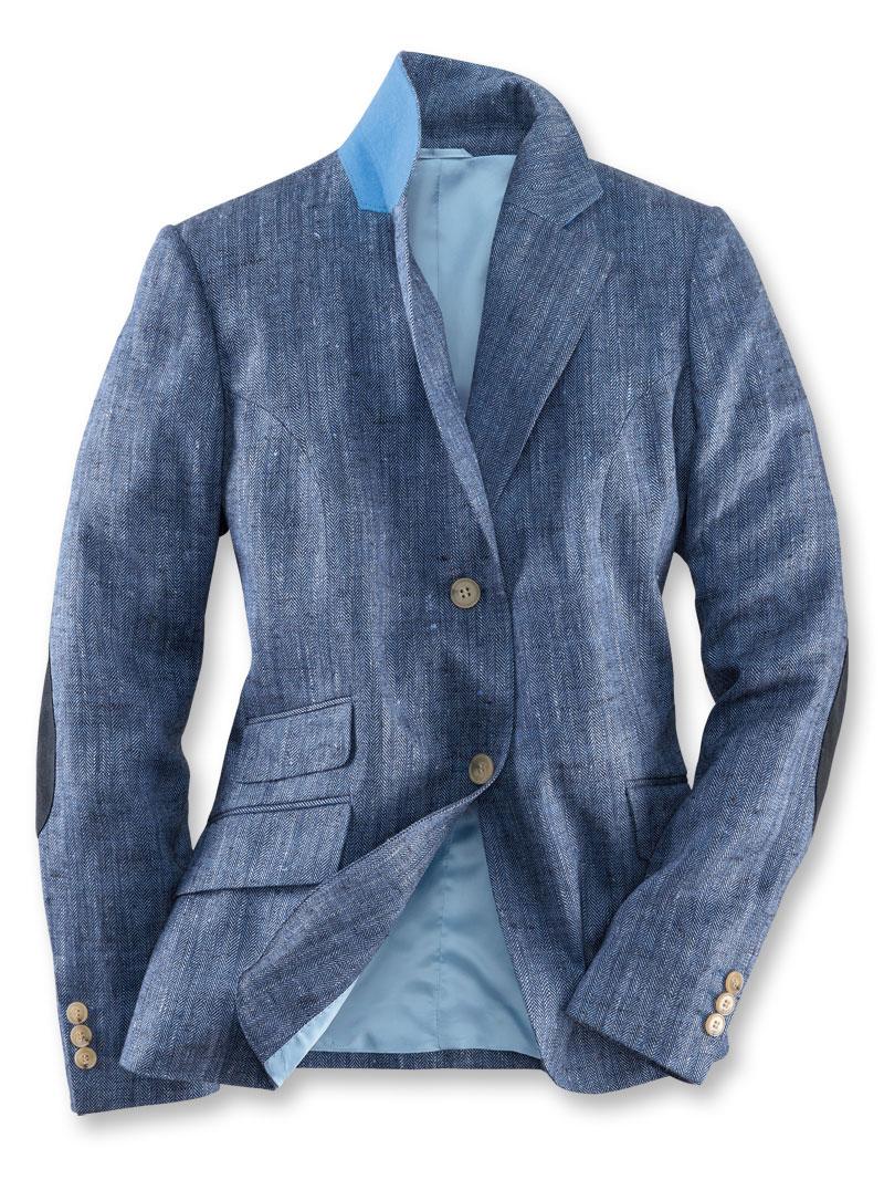 Robertson sommerblazer aus englischem seidentweed in azur for Mode aus england