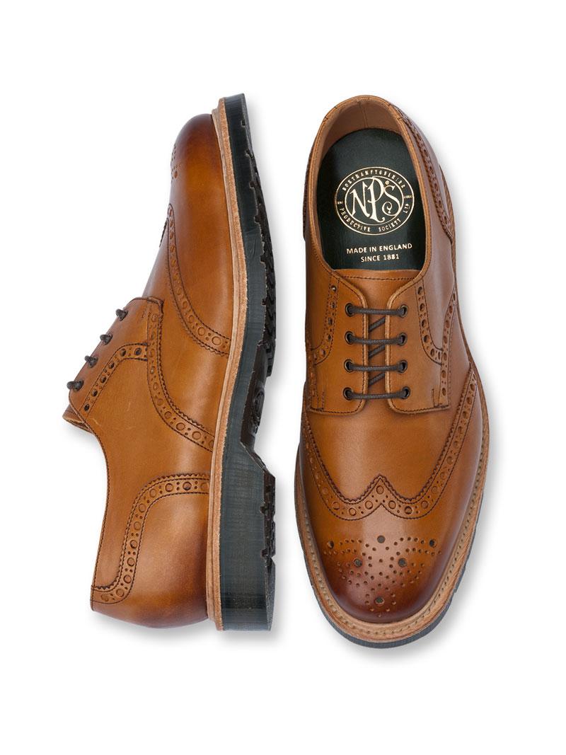 size 40 409af b5306 Britischer 'Budapester' in Cognac von Northamptonshire