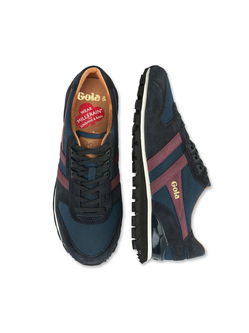 Sneaker in Navy und Aubergine von Gola