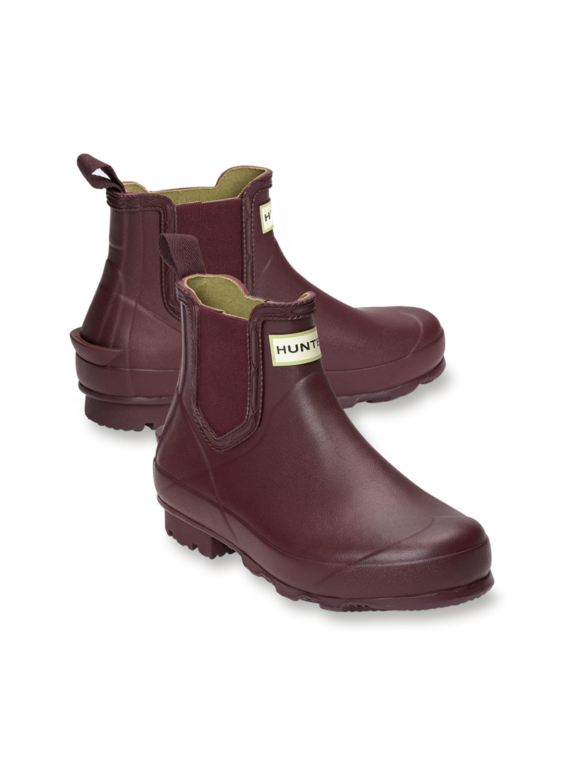 Chelsea Boots in Bordeaux von Hunter