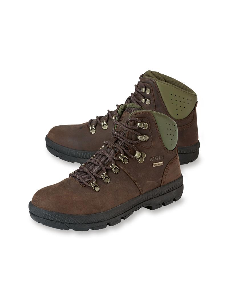 hot sales 75ff0 4f8f1 Leder-'Mountain Boots' in Braun von Aigle