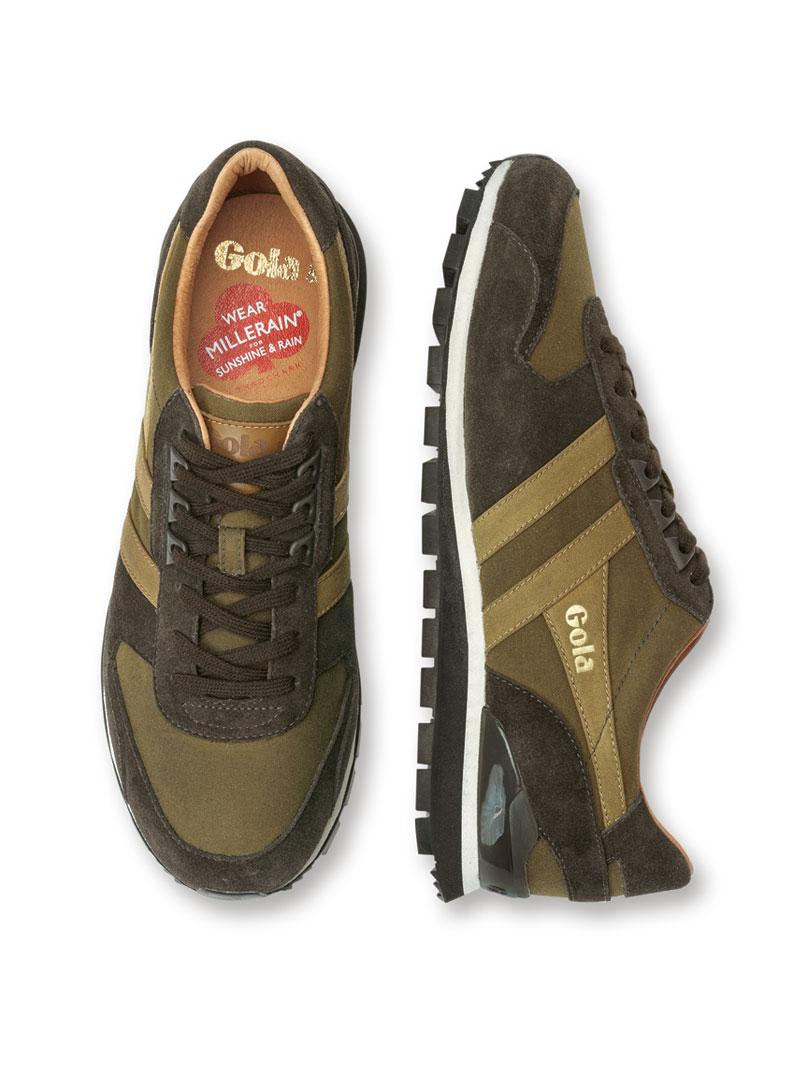 Gola Sneaker in Oliv und Braun