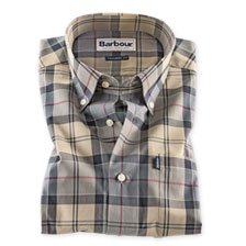 Barbour 'Dress Tartan Shirt' in Grau-Beige