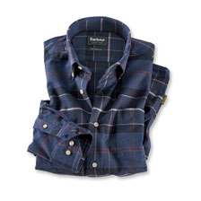 Flanellhemd 'Lustleigh' in Navy von Barbour