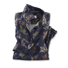 Mayfair-Bluse 'Ferns and Flowers' in Navy