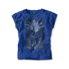 Mayfair-T-Shirt 'Historical Tulip' in Ultramarine Blue