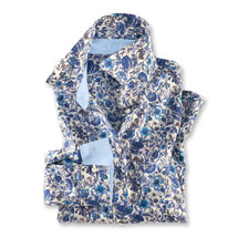 Liberty-Bluse 'Cornflowers' in Blau und Ecru von Mayfair