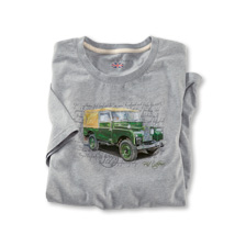 T-Shirt Land Rover in Hellgrau
