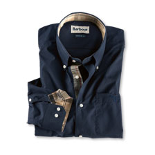 Barbour Hemd Southfields in Dunkelblau mit Dress Tartan Besätzen