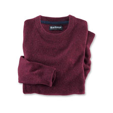 Barbour-Lambswool-Pullover in Rot