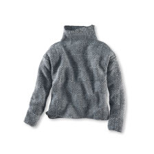 Oversized-Pullover in Perlgrau von Fisherman