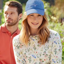 Barbour Sweatshirt mit Floral Print in Cloud Marl