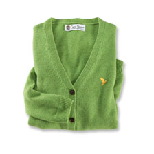 Lambswool-Cardigan in Apple Green von Charles Robertson