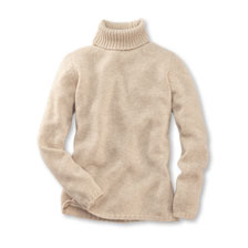 Rollkragen-Pullover 'Harlow' in Natur Melange von William Lockie