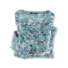 Damenpullover aus Organic Cotton in Blau-Grün
