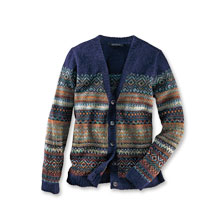 Damen-Strickjacke im Fair Isle Dessin