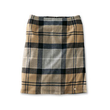 Karierter Wollrock im Barbour Tartan in  Winterfarben