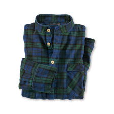 Flanell-Nachthemd 'Black Watch'-Tartan