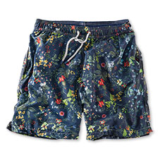Hackett-Badeshorts mit 'Flower Print' in Navy