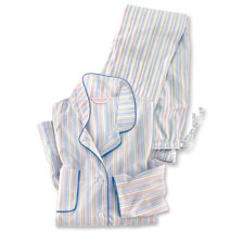 Derek Rose Damenpyjama Modern Stripes